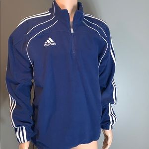 Adidas MENS Mens Navy/White Fleece Sweatshirt L